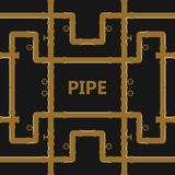Pipe fittings  icons set. Tube industry, construction pipe. Line, drain system. Pipeline water Royalty Free Stock Image