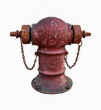 Pipe fittings in red Stock Photo