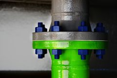 Pipe and flange Stock Images