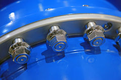 Pipe flanges Stock Photo