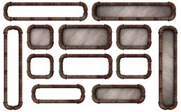 Pipe Frame Buttons Stock Images