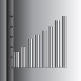 Pipe graph. Pipe success graph Royalty Free Stock Image