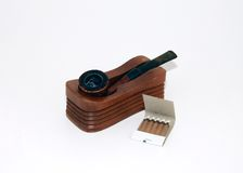 Pipe and Humidor Stock Photo