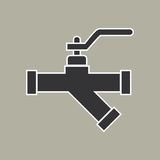 Pipe icon vector Royalty Free Stock Photography