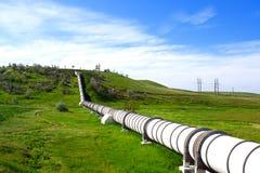 Pipe industrielle avec le gas et le pétrole Images libres de droits