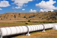 Pipe industrielle avec le gas et le pétrole Photos stock