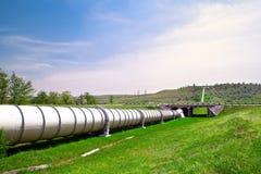 Pipe industrielle avec le gas et le pétrole Image libre de droits