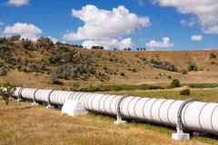 Pipe industrielle avec le gas et le pétrole photo stock