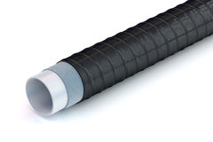 Pipe with insulation coatings Stock Image