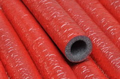 Pipe insulation Royalty Free Stock Photography