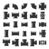 Pipe itting vector set. Stock Photography