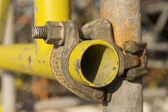 Pipe jaune Photo libre de droits