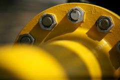 Pipe jaune photographie stock
