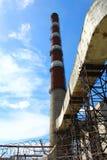 Pipe Krasnoyarsk GRES-2 with communications Stock Photography