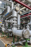 Pipe line. Steel Pipe line in chemical factory Royalty Free Stock Image