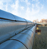 Pipe-line - 3. Steel pipe-line is photographed on sky background royalty free stock image