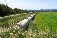 Pipe-line. Water pipe-line royalty free stock images