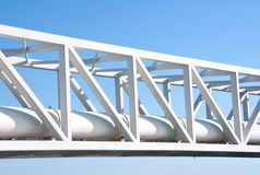Pipe line on blue sky. Gas Pipe line on blue sky Royalty Free Stock Images