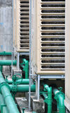 Pipe line of industrial cooler Stock Photo