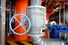 Pipe line and valve Royalty Free Stock Photos