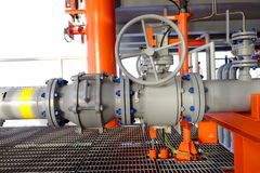 Pipe line and valve Stock Photos