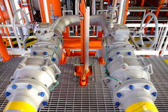 Pipe line and valve Stock Images