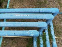 Pipe line for water system. Pipe line for water system in industry Royalty Free Stock Image