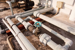 Pipe lines in industry Royalty Free Stock Image