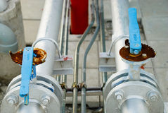 Pipe lines with valve Royalty Free Stock Photo