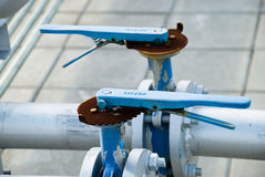 Pipe lines with valve Royalty Free Stock Photos
