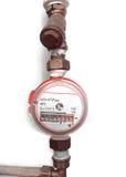 Pipe liquid odometer Stock Photo