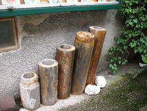 Pipe from log Stock Photos