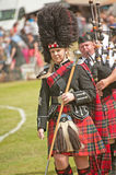 Pipe Major marching at Forres Royalty Free Stock Photo