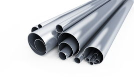 Pipe metal. It is isolated on a white background Stock Image