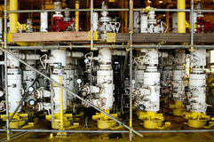 pipe natural gas on offshore rig Royalty Free Stock Photography