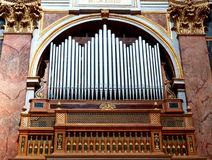 Pipe organ. Old pipe organ in a Roman church in Rome, Italy Royalty Free Stock Photos