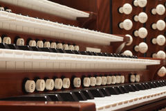 Pipe Organ. Close up view of a church pipe organ Royalty Free Stock Image