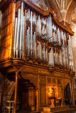 Pipe organ in Basilica, Rome Royalty Free Stock Photos