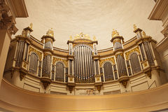 Pipe Organ In Cathedral Stock Photography