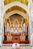 The pipe organ in the Cathedral of Saint Mary the Royal of La Al Stock Photography