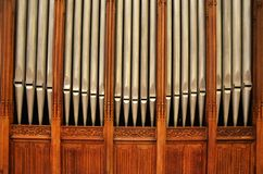 The Pipe Organ in the Cathedral of St. Patrick Royalty Free Stock Photos