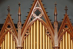 Pipe organ in church Stock Image