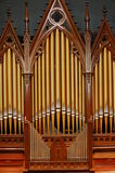 Pipe organ in church royalty free stock photography