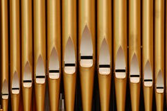 Pipe organ in church Stock Photos