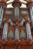 Pipe organ in church Royalty Free Stock Images