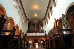 Catholic church interior architecture Stock Photos