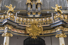 Pipe organ in church Stock Images