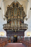 Pipe organ of the Church of Holy Trinity in Kristianstad, Sweden Stock Photography