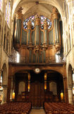 Pipe organ of the church of St. Severin in Paris Royalty Free Stock Photography