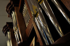 Pipe organ. Royalty Free Stock Images